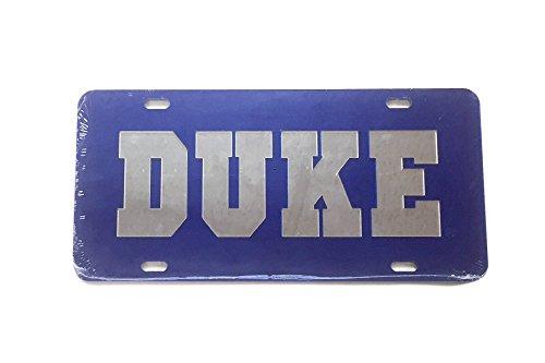 Desert Cactus Duke University License Plate Frame/Tag For Front Back of Car Officially Licensed (Car Tag - 15069) (Duke Blue Devils License Plate)