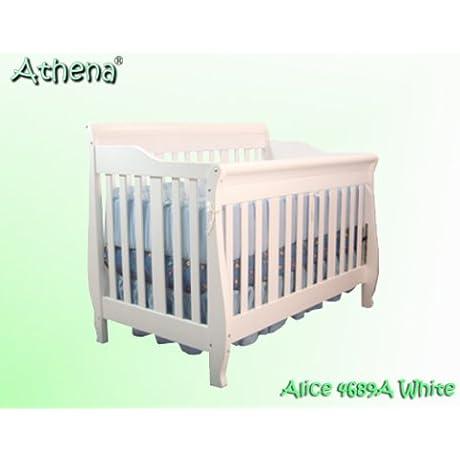 The Alice 4 In 1 Crib In White By Athena