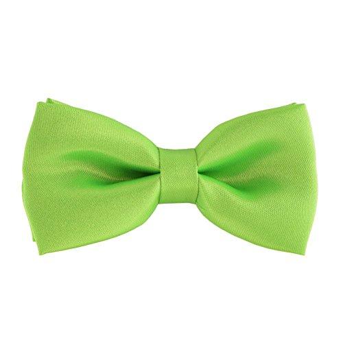 Apple Tie (Bello Giovane Mens Hand Made Classic Satin Bow Tie (Apple Green))
