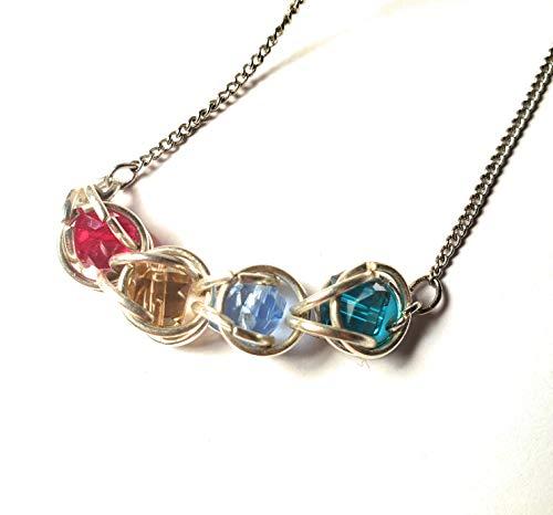 (Belladonna's Jewelry Captured Sparkles Mother's Birthstone Pendant)