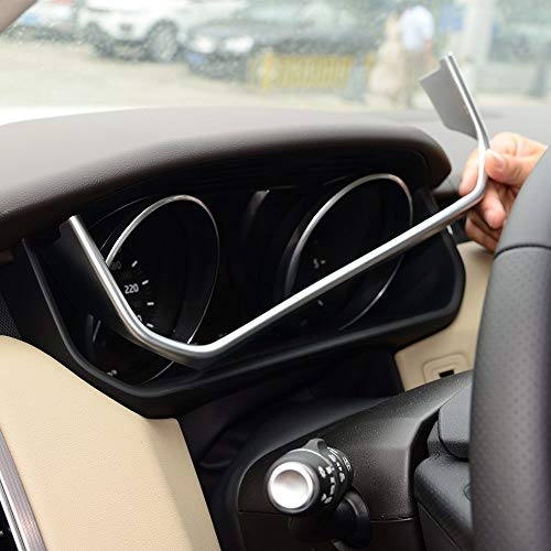 ABS Chrome Plastic Car Dashboard U Shape Decoration Frame Trim Cover Accessories matte silver for Land Rover Range Rover RR Sport 2014-2017