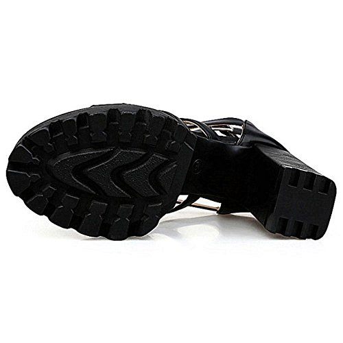 Coolcept Women Fashion High Heel Sandals Black OmpsmmVtPg