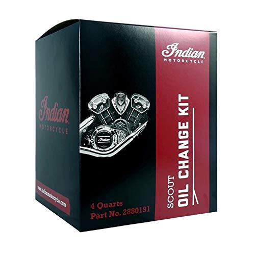Genuine Indian Motorcycles - Scout Oil Change Kit 15W-60 4 Qt - 2880191 ()