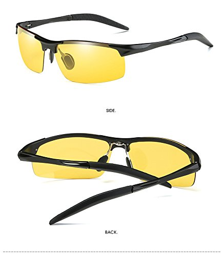 and Sun Sunglasses Night Daytime Sunglasses Polarized Driving night Use Coolest Gun Glasses Fashion Frame All Men's Glasses Glasses weather HqnOpP