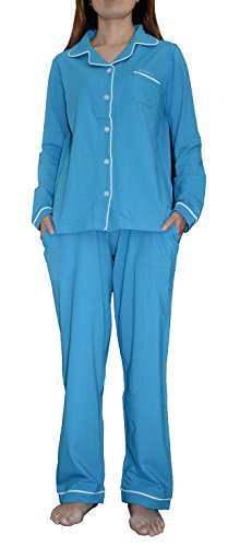 Knit Pajamas (HI Comfortable ATL1705 (XL, Caribbean Sea))