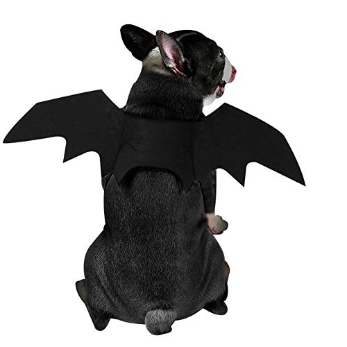Edtara Adorno de Perro para la Fiesta Halloween, ala de murciélago para Dog Costume Cosplay, Cat Ropa para Perros Halloween...