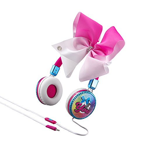 Price comparison product image JoJo Siwa Bow Fashion Headphones with Built in Microphone & Travel Pouch