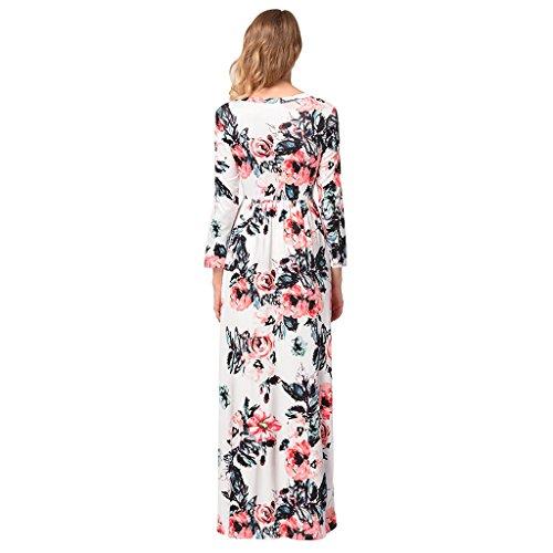 fc300535aeb649 Dress B Casual Taille Ärmeln Druck Hohe 5 Sommerkleider farbe Sieben ...