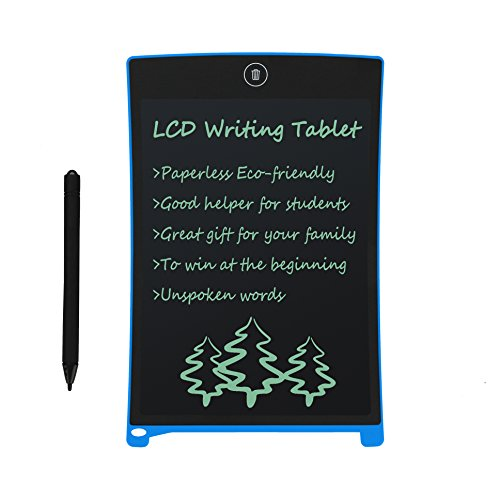 LCD Writing Tablet 8.5 Inch Electronic Drawing Board Digital Doodle Pad with Erase Button, Back to School Gift for Students Kids Boys Present for Friends Birthday Office Speech Difficulties Use, Blue