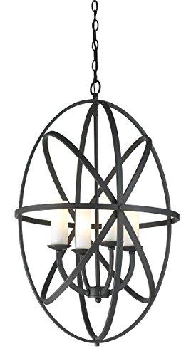 Z-Lite 6027-4L-BRZ 4-Light Pendant with Steel Frame Bronze Finish, Matte Opal ()