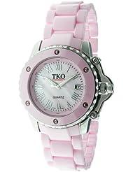 TKO ORLOGI Womens TK575-PK Genuine Ceramic Pink Dial Watch