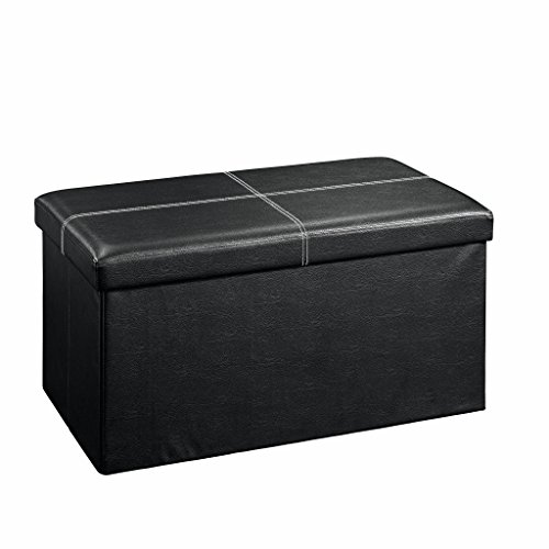 Sauder 414666 Beginnings Large Ottoman, Black