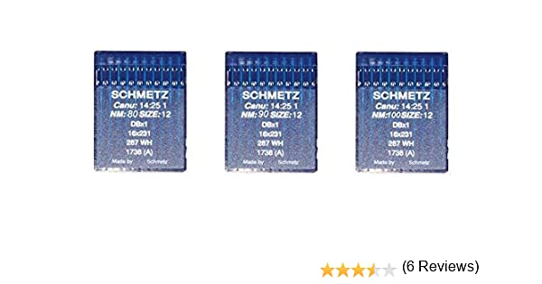 Agujas Schmetz maquinas de coser 1738 industriales DBx1 redondas ...