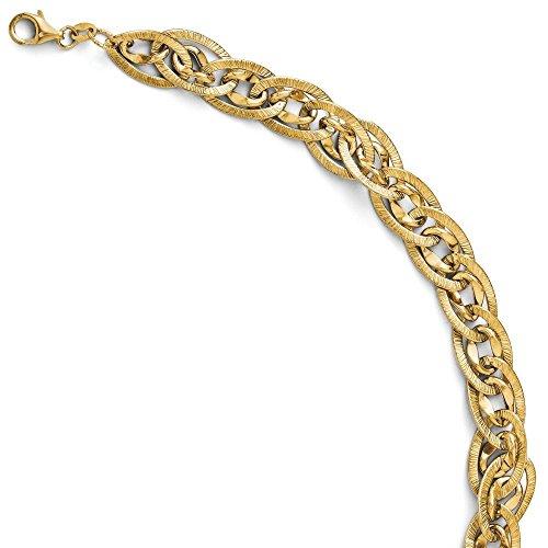 14 carats Fancy Bracelet JewelryWeb 7,5 cm