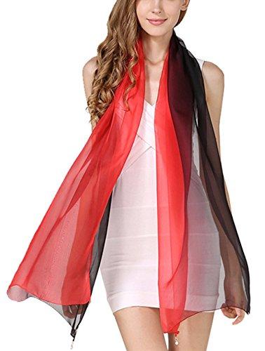 En Soie Couleurs Longue Écharpe Couleur De 20 180x70cm All Femme Pour Mode 25 Foulard Dégradé 5 qtTH6