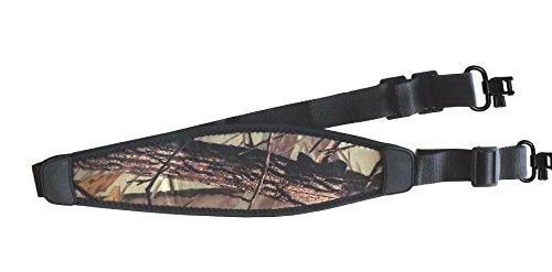 Sling Padded Deluxe Rifle (Deluxe Maverick Camo Rifle Sling Soft Neoprene with QD swivels Gun Strap)