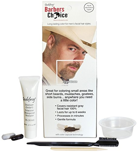 Godefroy Barbers Choice Beard and Mustache Color Single Application Kit, Light Brown (Mens Light Brown Hair Dye compare prices)