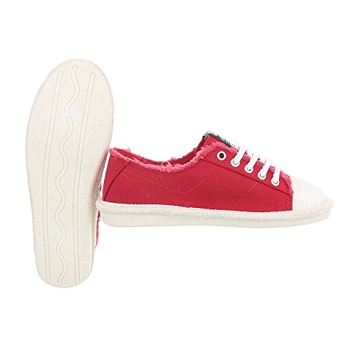 Baskets Ital Low Mode 39 Sneakers Plat Chaussures Espadrilles Rouge Femme design D rqUwSRqt
