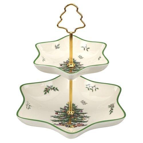 Spode Christmas Tree 2 Tier Star Server