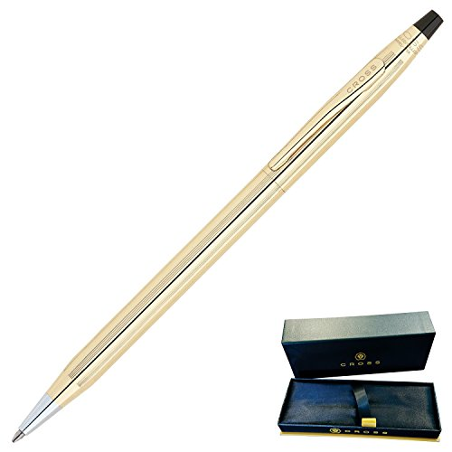 Dayspring Pens - Engraved / Personalized CROSS Classic 10 Karat Gold Rolled Ballpoint Pen, Gift Award pen, Custom engraved in 1 day 4502 by Dayspring Pens