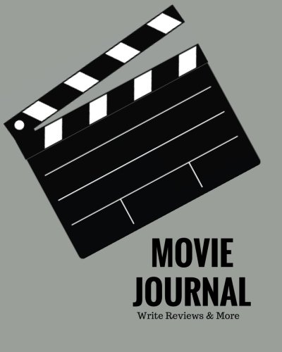 "Movie Lovers Gifts - Movie Journal Write Reviews & More: Grey Design | Perfect Gift for Movie Lovers | Movie Journal | Keep A record Of All The Movies You Have Watched & ... | 8 x 10"" Large (Film Reviews) (Volume 8)"