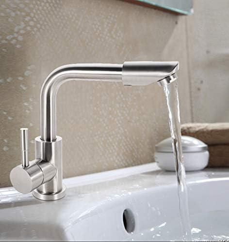キッチン蛇口クローム流域シンクモノブロックのミキサーのタップ小現代浴室の蛇口レバー