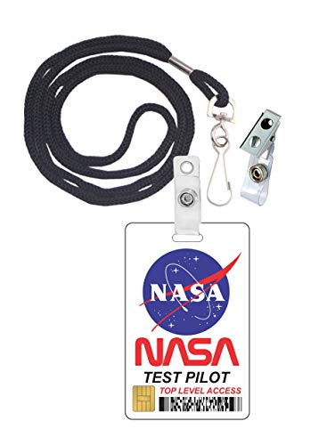 NASA Test Pilot Novelty ID Badge Film Prop for Costume and Cosplay • Halloween and Party Accessories]()