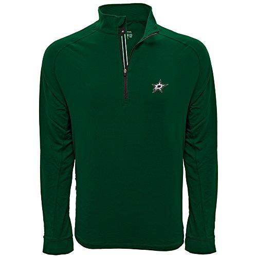 Levelwear LEY9R NHL Dallas Stars Men's Peak Banner Stripe Quarter Zip Mid-Layer Jacket, Medium, Rider Green -