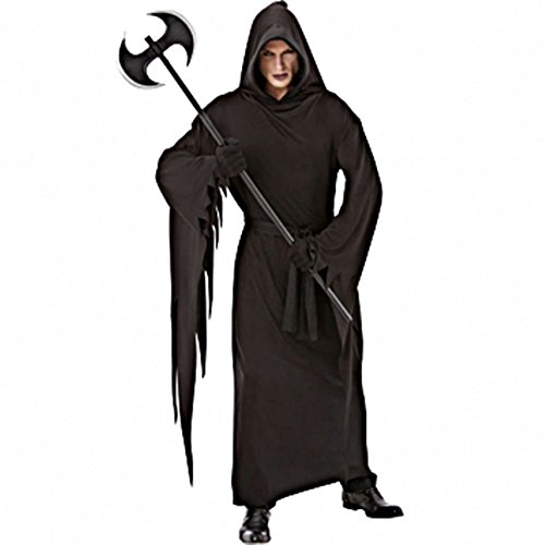 Black Terror Robe Costume - Standard - Chest Size 42 - Dark Reaper Teen Costumes