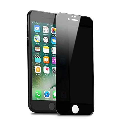 SANFEEL Full Privacy Tempered Glass for iPhone 7 plus Screen protector iPhone 8 plus Anti Spy Peeping Film 3D Easy to Install Scratch Proof Fingerprint Free Bubbles