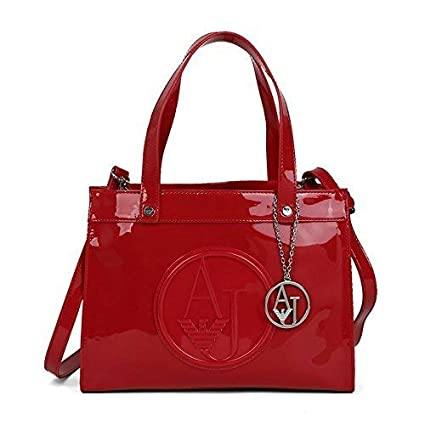 179e83984793 Buy Armani Jeans Shopping Bag Women s Red 30X23X12 cm Online at Low Prices  in India - Amazon.in