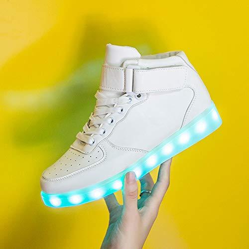 Scarpe Eleganti Sportive Bianco Donna Scarpe da Sneakers Running Corsa UOMOGO Basse Sneakers Ginnastica Donna Scarpe LED Stringate da Rxnxq7Ogp
