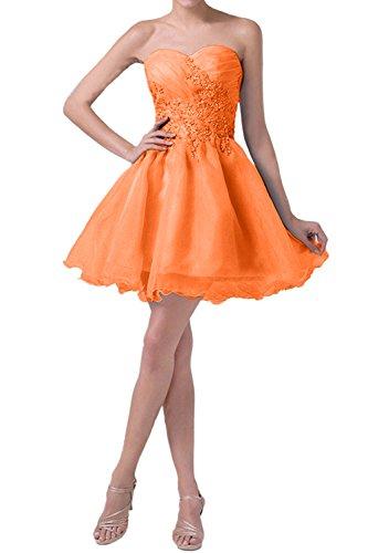 Stickreien Orange mia Mini Abendkleider Blau La Promkleider Braut mit Tanzenkleider Damen Cocktailkleider 7nWvUqP