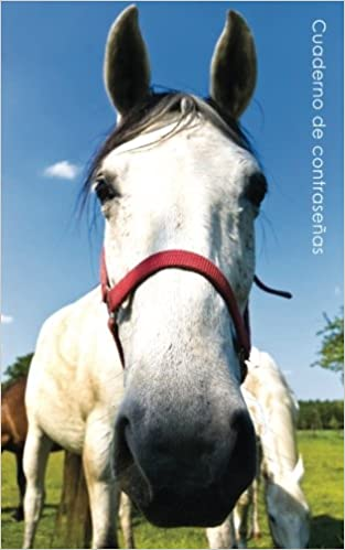 Cuaderno de contraseñas: Libro de registro de direcciones y contraseñas en internet - Cubierta de caballo curioso (Cuadernos para los amantes de los ...