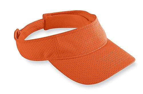 Augusta Sportswear Athletic Mesh Visor, One Size, Orange (Augusta Golf)
