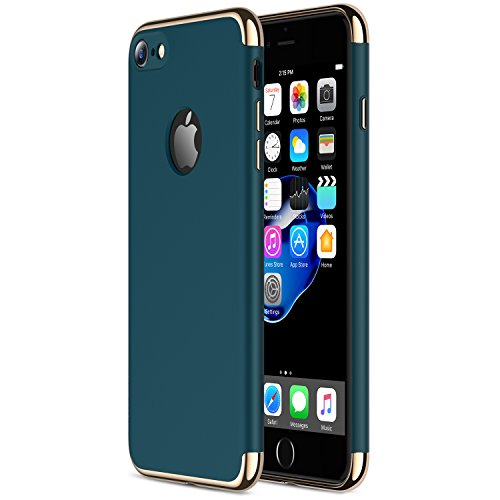 iPhone 7 Case RANVOO Stylish Thin Hard Slim Fit Case with 3 Detachable Parts for Apple iPhone 7 Only, DARK GREEN (Colorway Released in July 2017), [CLIP-ON]