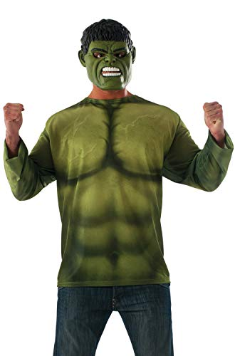 Rubie's Men's Marvel Avengers Infinity War Hulk Costume Top and Mask, Standard
