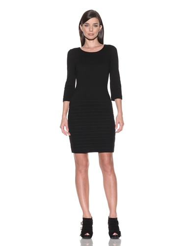 Calvin Klein Women's Shutter Pleat Dress,Black,12