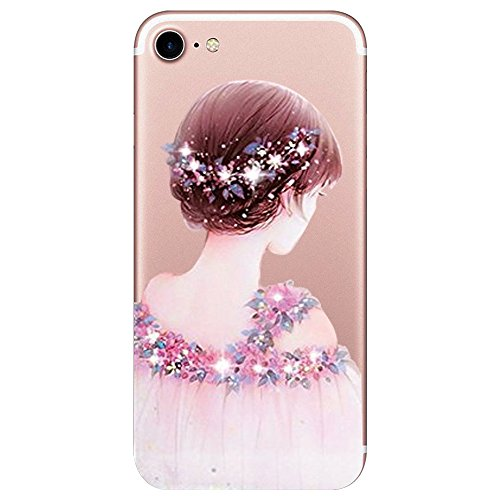 Sottile scintillante Cover Completa Trasparente Apple Bordo Proteggi diamante Case iPhone 7 8 7 Morbida TPU Cristallo per Custodia 5 Copertura 8 Silicone iphone wPXqFw