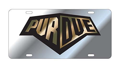 PURDUE UNIVERSITY Boilermakers Mirrored Train License Plate Tag (Purdue Train University)