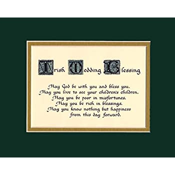 Irish Wedding Blessing Home Decor Wall Sign Keepsake Gift Made In The Usa