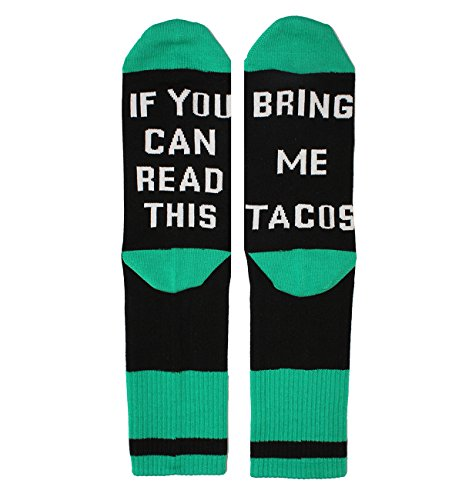 Women's If You Can Read This Funny Sayings Novelty Socks for Taco Lovers -