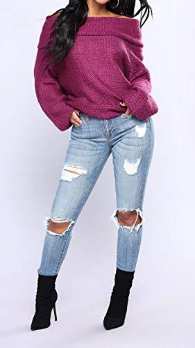 Y Primavera Cuello Suéter Manga Pulóver Prendas Moda Otoño Sweaters rAdqw5Ax