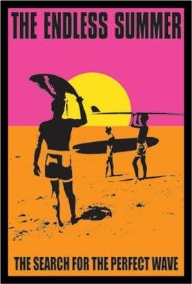 Summer Tin Endless - FRAMED Classic Endless Summer 36x24 Movie Art Print Poster Wall Decor Surfing Surfboards Beach Sunset orange Pink and Yellow