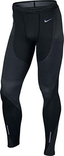 Nike Zonal Strength Mens Running Tights (S, Black/Grey) (Nike Pro Zonal Strength Mens Training Tights)