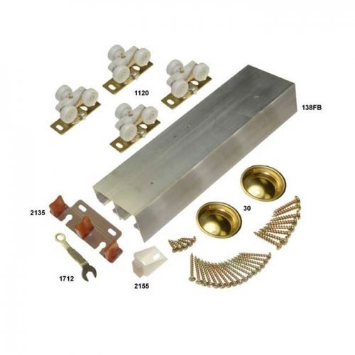 138F Series Bypass Track Set for 4 Doors 96'' by Johnson Hardware