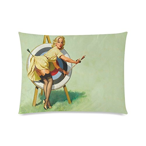 Vintage Sexy Pin-up Girl Rectangle Sofa Home Decorative Throw Pillow Case Cushion Cover Cotton Polyester Twin Side Printing 20