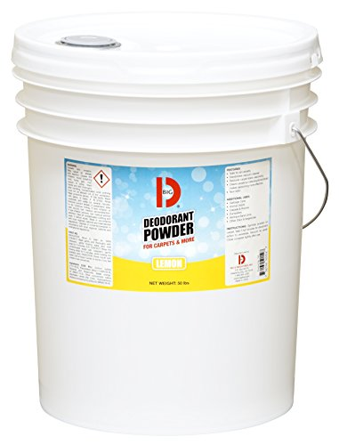 Big D 5152 Deodorant Powder for Carpets & More, Lemon Fragrance, 50 lb Container - Ideal for use on carpet, wood, textiles and trash dumpsters