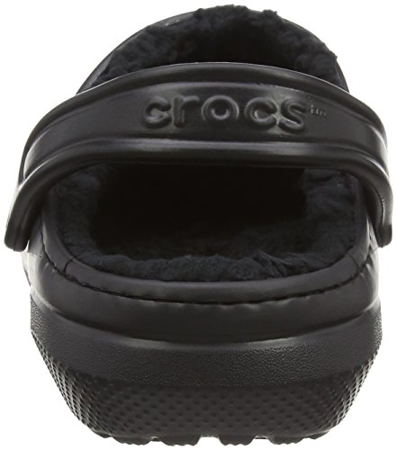 Crocs Men's and Women's Classic Fuzz Lined Clog Shoe | Great Indoor or Outdoor Warm and Fuzzy Slipper Option