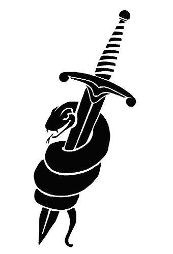 Schlange & Dagger Airbrush, Wand-Kunst, aus Mylar, Schablone, wiederverwendbar, 125µm 125µm cfsupplies